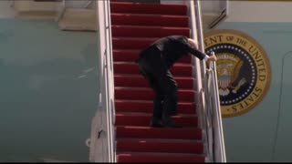 Biden Trips Down the Stairs