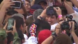 Juan Guaidó cruzó la frontera para el Venezuela Aid Live
