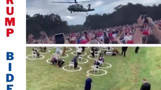 Trump Entrance v Biden Entrance