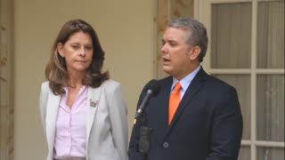 Presidente Santos recibió a Iván Duque en la Casa de Nariño