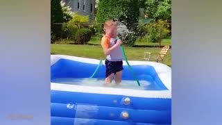 Funny Babies Playing With Water Pool Fails 😂 Funny Baby Videos Compilation