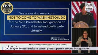 D.C. Mayor Bowser seeks to cancel protest permits around inauguration