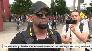 Proud Boys leader released from police custody but told to leave D.C.