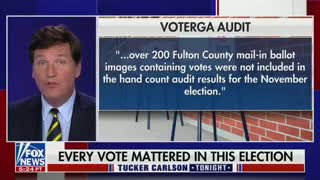 Tucker is exposing election fraud in Georgia's Fulton County.