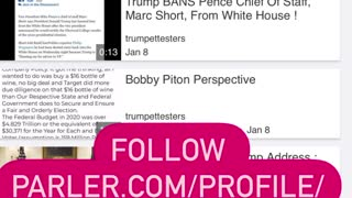 FOLLOW TRUMPETTESTERS on PARLER !