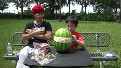 rubberbands vs watermellons