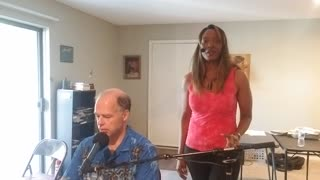"""""""I Can't Stop Loving You"""" - Ray Charles version - duet - keyboard and vocals"""