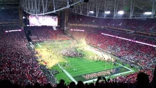 2016 College Football National Championship: Clemson vs Alabama celebration.