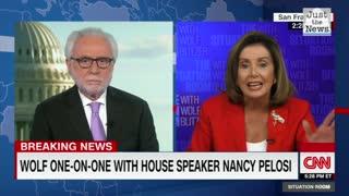 Pelosi calls Blitzer an 'apologist'