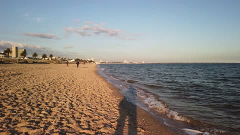 [4K] Walking on Port Melbourne beach | Australia (Jun 2020)