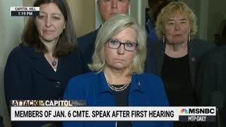 Rep. Liz Cheney & Adam Kinzinger Speaks After First Jan. 6 Committee