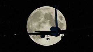 Flight against the full moon