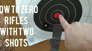 How to Zero Scopes in Two Shots