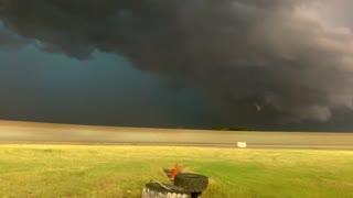 Lightning Storm Rolls into Racetrack
