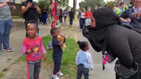 Some families are bringing their kids outside in Louisville