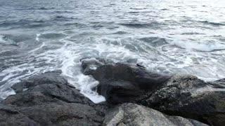 Free stock footage: Ocean waves splashing against the shore