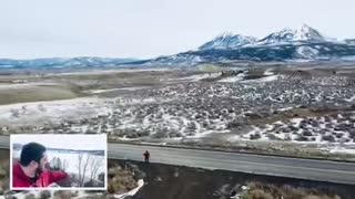 Drone Pilot Gives Tour of Frozen Colorado Lake