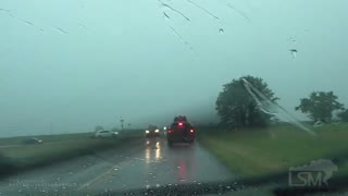 Lightning Strikes Vehicle