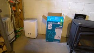 Frigidaire FFAD7033R1 Energy Star Dehumidifier with Effortless Humidity Control, 70 pint