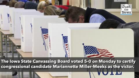 Iowa board votes to certify Republican congressional candidate's 6-vote victory