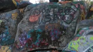 Graffiti on trails