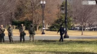 More troops, police and media than protesters appeared at Capitol Hill protest