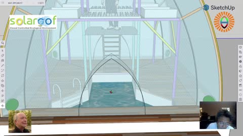 """SA1.5P4G17: 集遊泳池和魚菜共生一體化的金豆莢設計新鮮出爐,將理查德的""""獨陽屋頂""""技術推到極致"""
