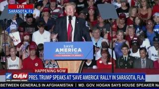 President Donald J Trump Holds Save America Rally & Fireworks Show in Sarasota, FL July 3, 2021