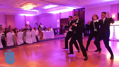 Groomsmen Perform Surprise Wedding Dance For Newlyweds