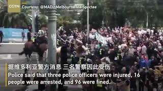 Anti Lockdown Rally Turns Violent - Australia