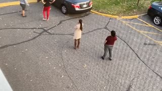 Woman Shout in Parking Lot Altercation