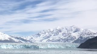 Hubbard glacier view from cruise ship