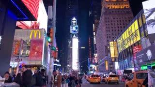 video in Times Square, New York City, pre covid Plandemic