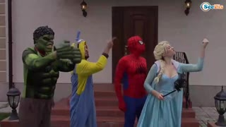 Super hero play outside | Funny Video