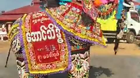 Elephant festival in Myanmar