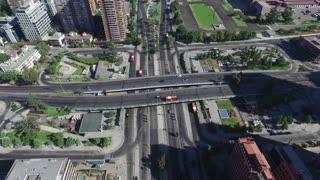 Aerial view at Las Condes city in Santiago, Chile