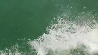 Boat backflip man green water fail