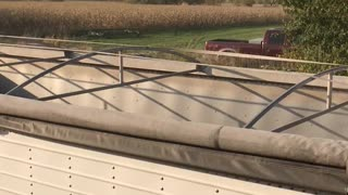 Unloading Hopper into a semi trailer
