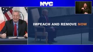 Mayor Bill De Blasio Thanks News Agencies And Social Media For Censoring Trump