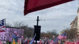 Trump flyby in Marine 1