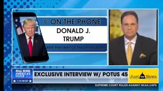 Trump interview on Real America's Voice News