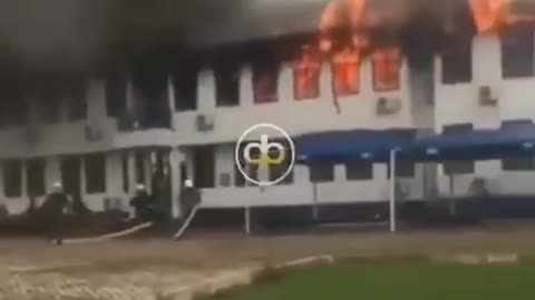Fire Gutts Administration block of Mampong Technical College of Ghana