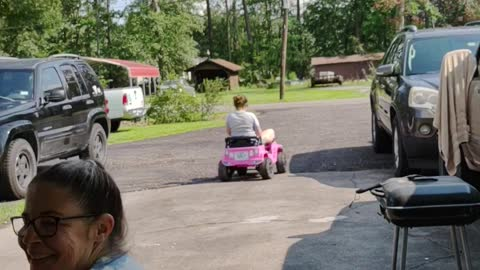 Can an adult fit in a kids power wheels Jeep??