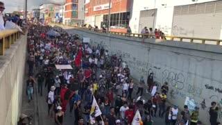 Minuto a minuto: Avanza marcha por el Paro Nacional en Bucaramanga