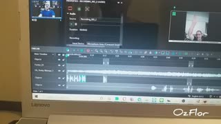 Editing a video on my laptop to upload to the internet
