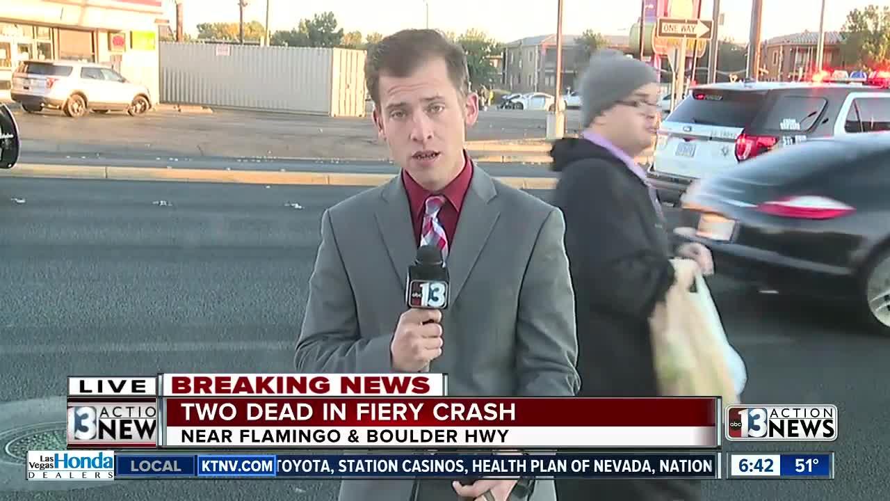 Deadly crash closes Boulder Highway