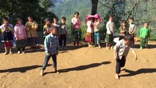 Kids dancing to music