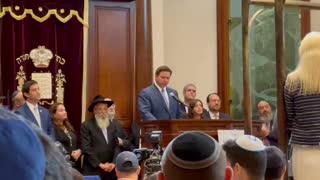 Florida Gov. Ron DeSantis Speaks At Surfside Shul Upon Signing The Hatzalah Bill