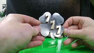 Lucky 777 Shamrock Belt buckle bottle opener - RT ARTISAN WORKS