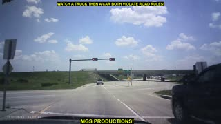 TRUCK AND CAR VIOLATE ROAD RULES!